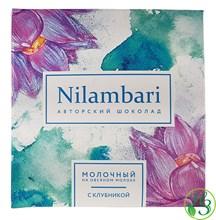 Шоколад Nilambari на овсяном молоке с клубникой 65г - фото 10944