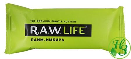 Фруктовый батончик R.A.W. Life Лайм-Имбирь 47г - фото 11004