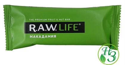 Фруктовый батончик R.A.W. Life Макадамия 47г - фото 11006