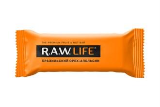 Фруктовый батончик R.A.W. Life Бразильский орех-апельсин 47г - фото 12065
