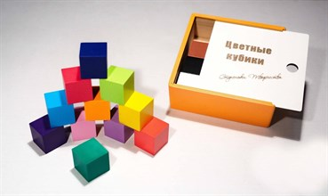 Цветные кубики (цветная коробка) - фото 8983