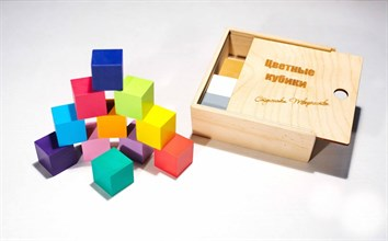 Цветные кубики (лакированная коробка) - фото 8984