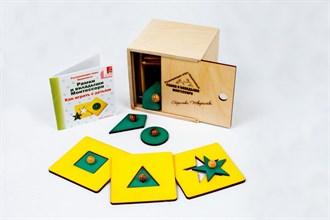 Рамки и вкладыши Монтессори (лакированная коробка) - фото 9006