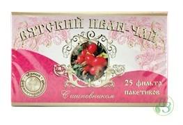 Вятский Иван-чай с шиповником в пакетиках 50г 5 пачек